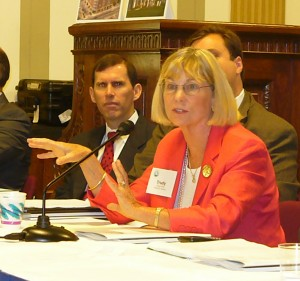 Trudy McFall testifying at Congressional hearing.