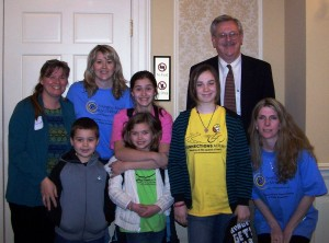 "Senator Rosapepe met with the families of E-mom at the introduction of SENATE BILL 1032 ""Funding Formula to Expand K-12 Online Education"" on March 25th, 2009 at the MD state house."