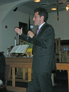 Democratic Candidate for Mayor, Josh Cohen addresses ADCC and the public after being selected to run.