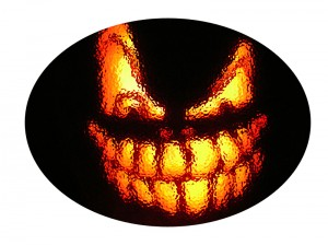Scary Halloween Pumpkin Boo!