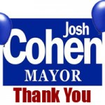 "Josh Cohen says, ""Thank you Annapolis!"""