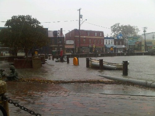 Annapolis Maryland flooding from Tropical Storm Nicole