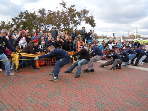 An Annapolis team prepares to lose in the 13th Annual Tug Of War