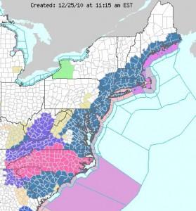 Preliminary Snowfall For Maryland