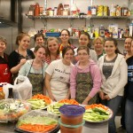 Members Of Girl Scout Troop #1609 Serve Dinner At The Light House