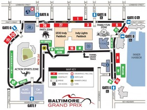 Baltimore Grand Prix Route map