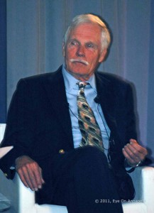 Ted Turner holds a discussion at AAMC