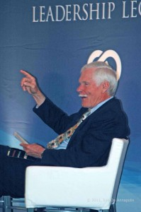 Ted Turner reads his initiatives