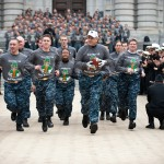 13th Company Runs Army-Navy Game Ball To Philadelphia