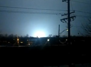 User submitted photo of explosions prior to power failure in Annapolis