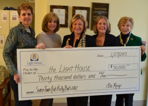 L to R – Linda Saksa, President, Severn Town Club, President, Pam Siemer, Director of Development, Light House, Elizabeth Kinney, Executive Director, Light House, Patti Nalley and Ann Moynihan, Severn Town Club members – all from Annapolis