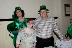 Neysa Ernst, Shannon Rosenthal, and Pat Ernst (all Pasadena residents) enjoy the St. Patrick's Day themed event for Providence Center participants, caregivers, and staff. (Courtesy Photo)
