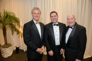 From left to right:  Brian Gibbons, Chairman of the Board  & Chief Executive Officer, Greenberg Gibbons Commercial; Michael S. McHale, President and CEO, Hospice of the Chesapeake; and Reverend Dr. James G. Kirk, Hospice of the Chesapeake Board of Directors.