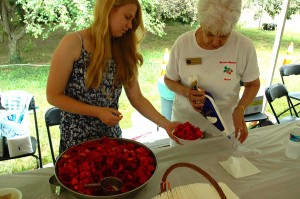 Hannah Ruark and Lillian Malkus, Corresponding Secretary of the Ann Arrundell County Historical Society were serving fresh strawberry shortcake at last years' Festival.  The Ann Arundell County Historical Society will offer its 23rd annual Strawberry Festival on Saturday June 8.