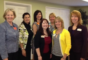 SPG board members and hosts gathered for a photo, left to right: Anne Myers of Partners In Care, Michele Cummings of Regency Park Assisted Living, Pamela Urnowey of Home Instead Senior Care, Shannon Burgoon of Morningside House of Friendship, Sherry Gilde of Somerford Place, Theresa Barrett of BrightStar, and Randi Florentine of Morningside House of Friendship.
