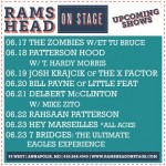 Coming Up At Rams Head On Stage