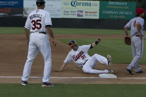 Davies deals and Baysox hang on