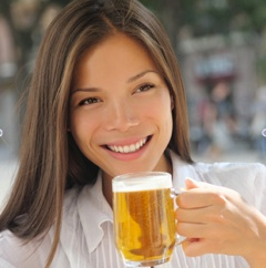 Girl drinking beerjpeg