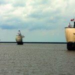 The Niña & Pinta ships at CBMM in St. Michaels May 10-18