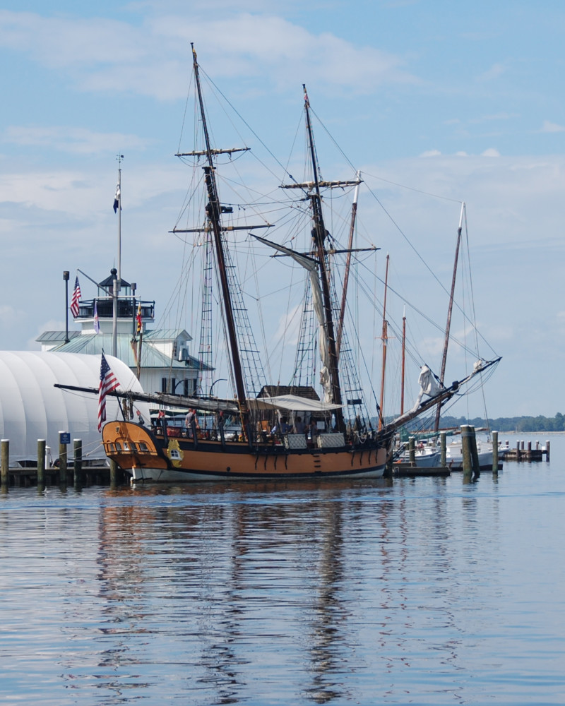The replica schooner Sultana is scheduled to dock at the Chesapeake Bay Maritime Museum in St. Michaels, MD beginning late Sunday, May 4 through the early morning of Saturday, May 10. Sultana will open for boarding to all museum visitors from 2:30 p.m. to 4:30 p.m. on Tuesday, May 6. The tour is free for museum members or with general admission.