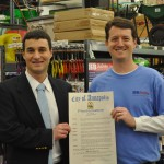 Mayor Pantelides honors K&B True Value on 40th anniversary