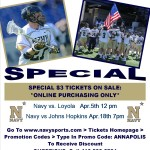 Warrior Events hosting free tailgate at Navy Vs Loyola lax game (April 5, 2014)