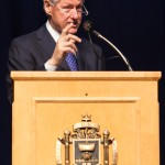President Clinton addresses Mids at USNA Forrestal Lecture Series