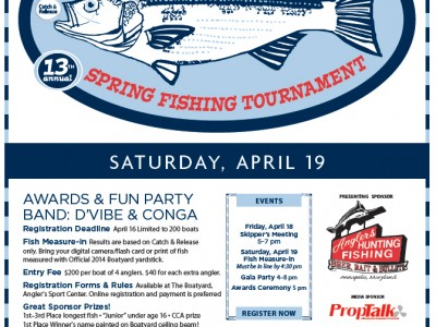 13th Annual Opening Day Tournament gala party this Saturday (April 19, 2014)