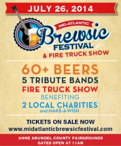 Get your tickets to the 1st Brewsic Festival on July 26th