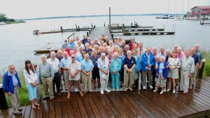 Several of the Chesapeake Bay Maritime Museum's (CBMM) volunteers recently gathered at a June 12 reception honoring their service. Last year, more than 200 volunteers collectively contributed more than 29,000 hours of service to the non-profit, helping with all aspects of CBMM's operations. Volunteers reaching milestones in hours of service were also recognized at the reception, which took place along Fogg's Cove and the Van Lennep Auditorium in St. Michaels, MD.