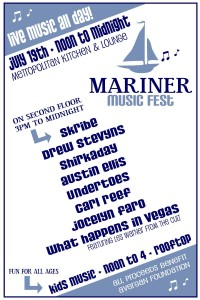 Mariner Music Fest Flyer