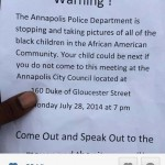Annapolis Police under fire for photographing black teens