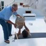 Miles River motion ages vinegar on skipjack Rosie Parks