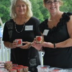 Virginia Tippie and Kay Hunter showoff Carla Hall Petite Cookies (photo by Sandy Mosso)