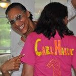 Carla Hall with her #1 fan, a self proclaimed Carla Hallic, Stephanie Fila (photo by Sandy Mosso)