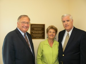 (L to R) Dr. Robert T. Ireland, President & CEO of Bello Machre with Carole and Carl Brudin at the Hertha and Jesse Adams Ray of Hope Program dedication. (Courtesy Photo)