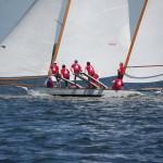 Watch log canoe races from the Winnie Estelle