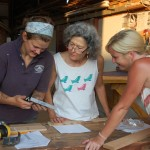 Women's woodworking workshop at CBMM