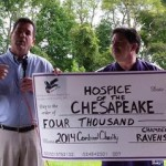 Hospice of the Chesapeake receives $4K from Raven's Nests