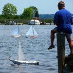 Model skipjack races at CBMM on the 21st
