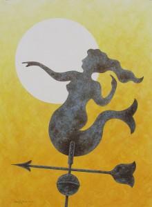 Howard Eberle, She Calls, Watercolor