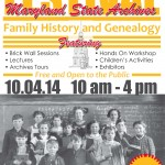MD State Archives Family History Festival this weekend (FREE)
