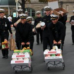 Midshipmen collect food for Harvest for the Hungry