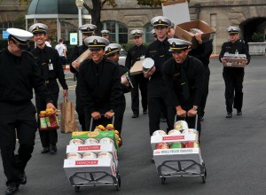 USNA donates 65K pounds of food to Anne Arundel County Food and Resource Bank