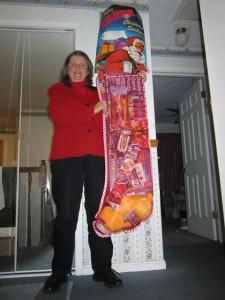 Giant Stocking Winner JoAnne Zoller Wagner
