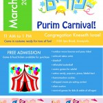 Purim Carnival at Kneseth Israel on March 1st