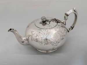 U.S. Naval Academy Museum, Photograph Don Dement CSS Texas Teapot, Joseph Rodgers & Son, Sheffield England