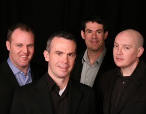 The Unified Jazz Ensemble performs three jazz greats: Cole Porter, Duke Ellington and George Gershwin at the Unitarian Universalist Church of Annapolis on Friday May 22 at 8 pm. Ensemble members (L-R) pictured above are Tim Stanley, trumpet; Mike Noonan, vibraphone; John Pineda, bass and Dominic Smith, drums. Photo Credits: Larry Melton
