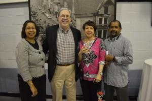 Alderwoman Rhonda Pindell Charles (Ward 3), Alderman Fred Paone (Ward 2), Alderwoman Sheila Finlayson (Ward 4) and NT Sharps.