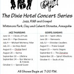Free concerts at Whitmore Park